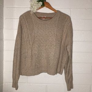 Beige Speckled Knit Sweater